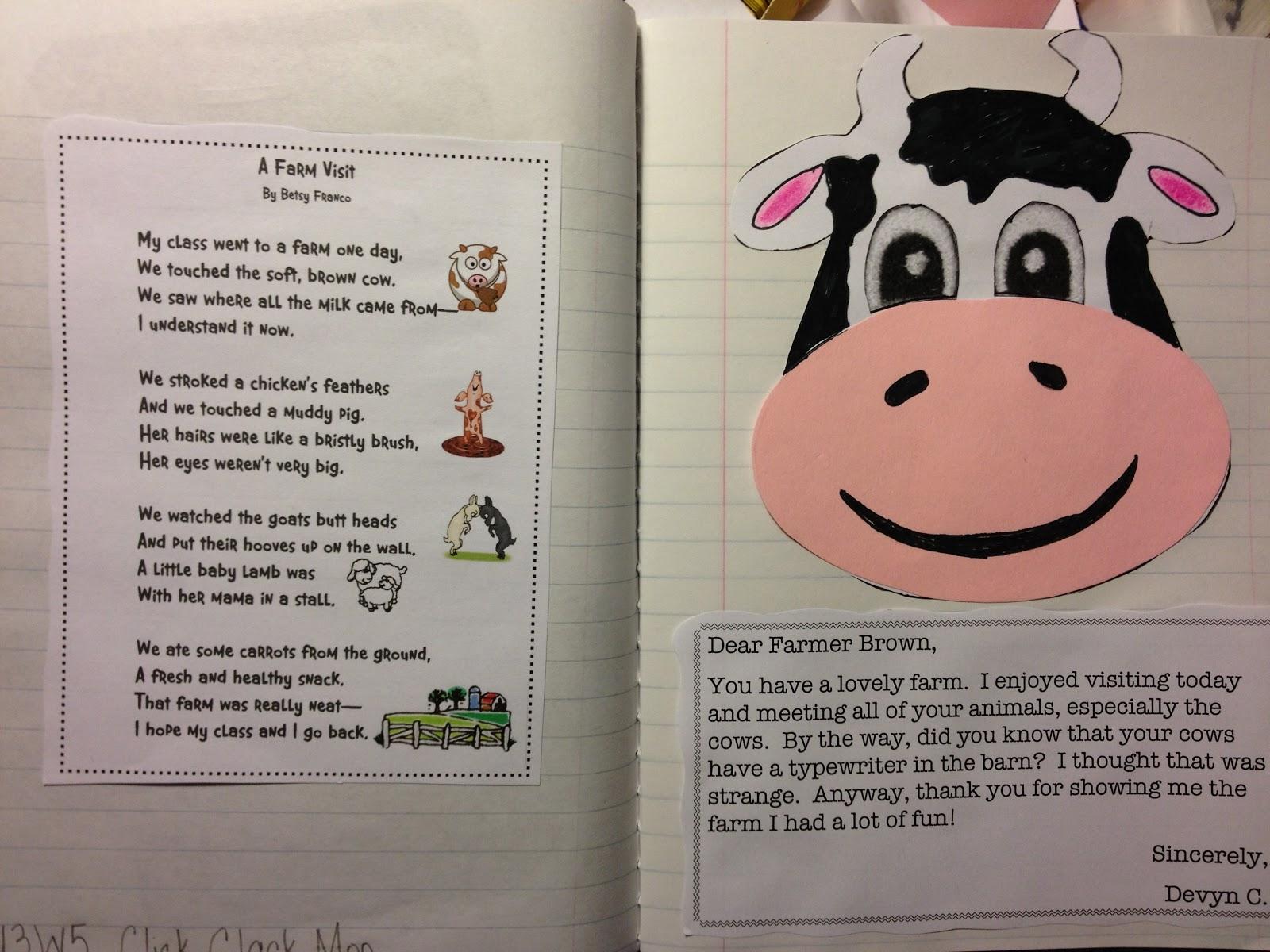 Just 4 teachers sharing across borders u3w5 click clack moo cows