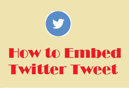Embed Twitter Tweet