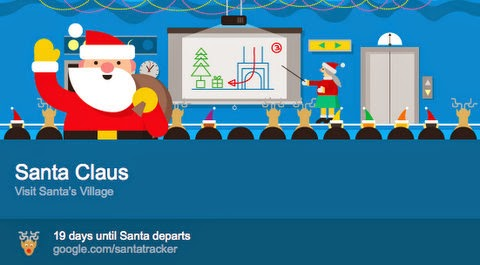 Google's Santa Card for promote SantaTracker