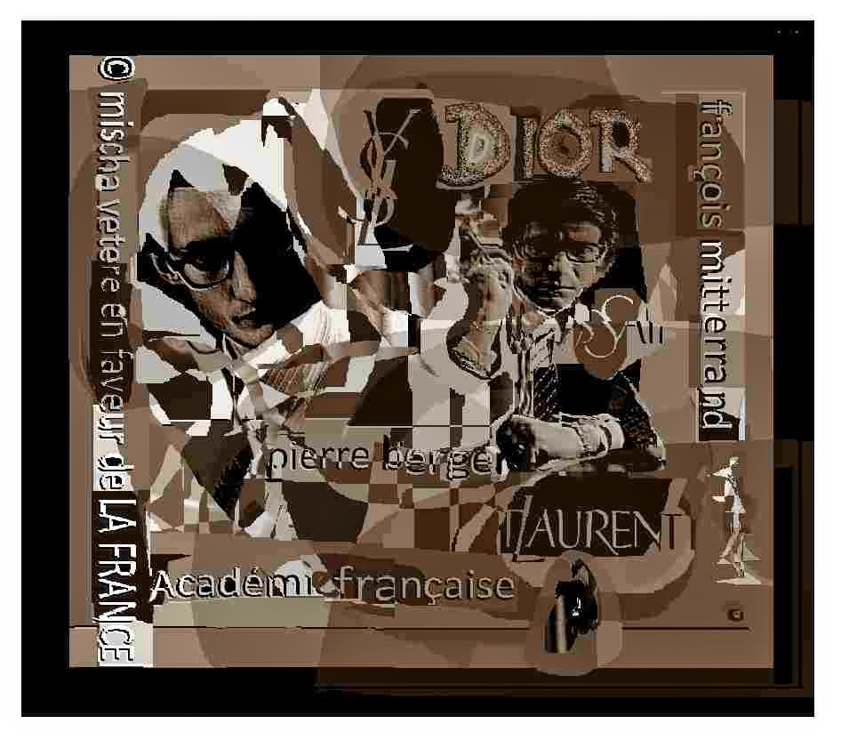 YSL affiche pierre berger académie française DIOR aznavour mischa vetere maria barbara PARIS berlin