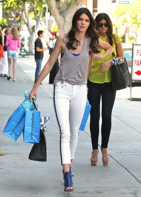 Kendall Jenner shopping with a friend in West Hollywood