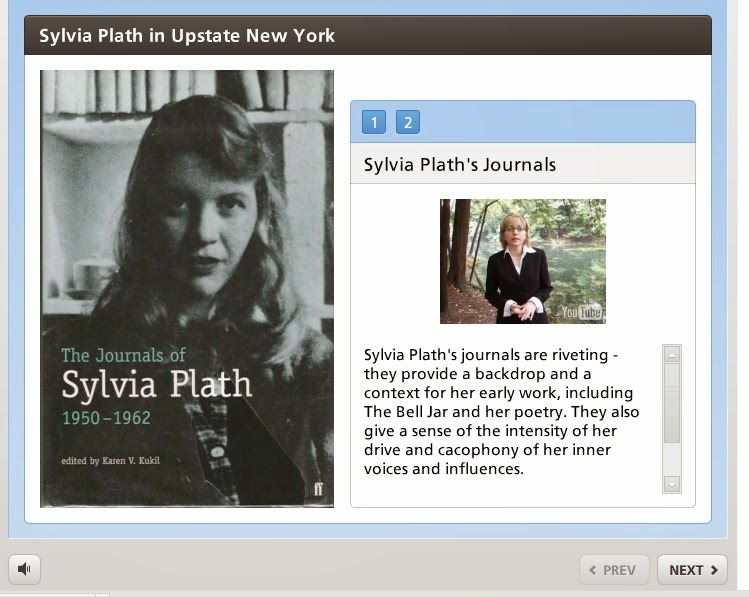 Learning Object -- videos, text on Sylvia Plath