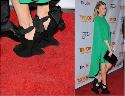 LeAnn Rimes heel-less shoes