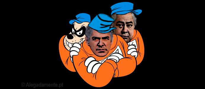 Caricatura de José Sócrates e João Arújo como Irmãos Metralha