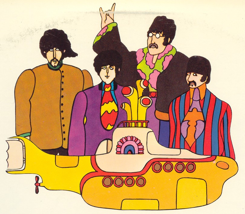 The Beatles - Yellow SubmarineYellow Submarine Stencil