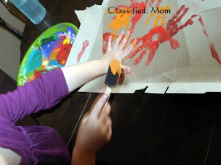 Painting Rainbows on transparency paper