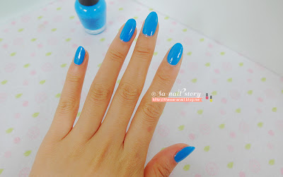 DIAMI nail lacquer, Blue Nail Polish