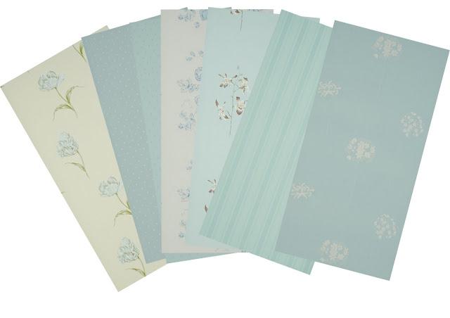 Demeri estudio descuento en papeles pintados parte i azules - Papeles pintados romanticos ...