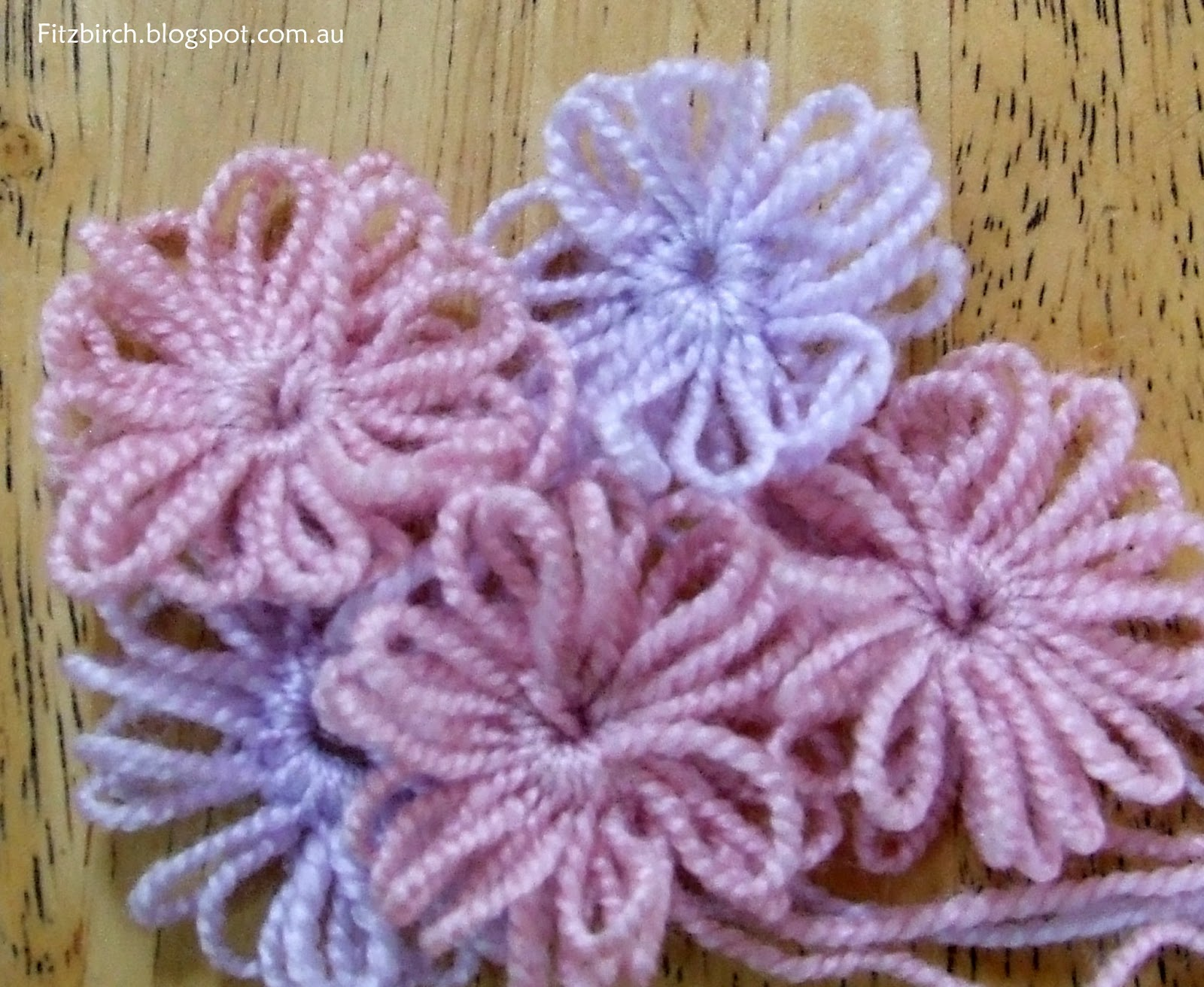 Knitting Flowers On A Loom : Fitzbirch crafts loom knit flowers
