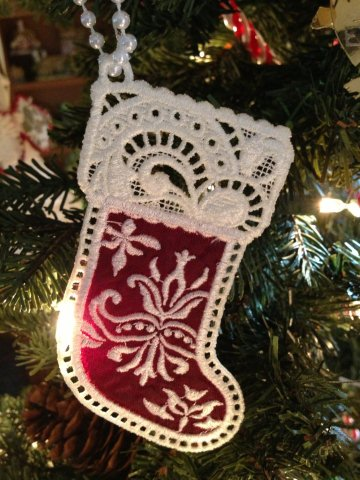 Christmas Machine Embroidery With Free Standing Lace Embroidery It
