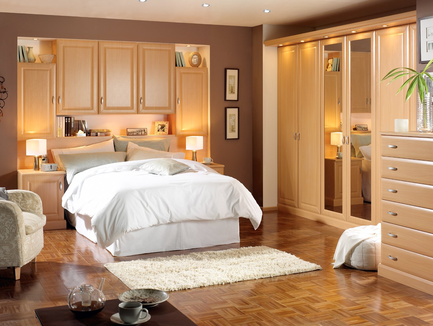 Bedrooms cupboard designs pictures an interior design for Nice bed designs