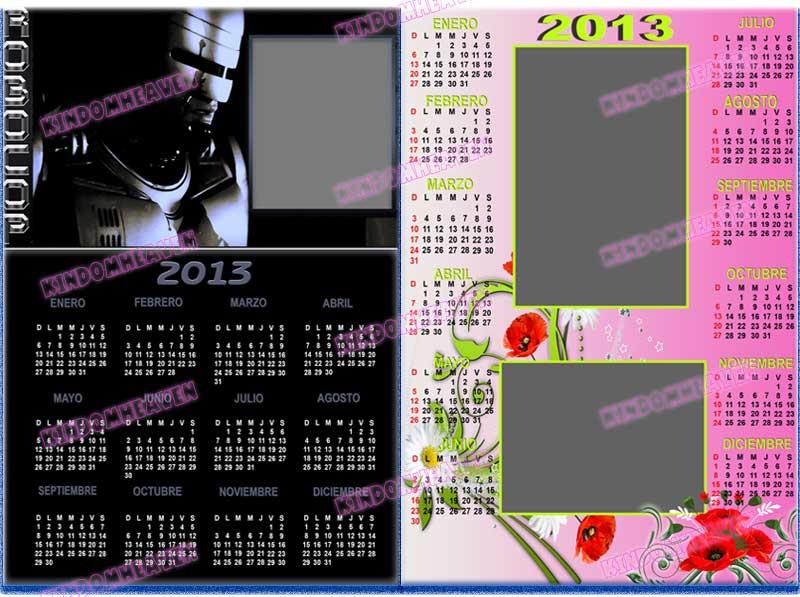 calendarios 2013 psd almanaques 2013 robocop florales romantico parejas