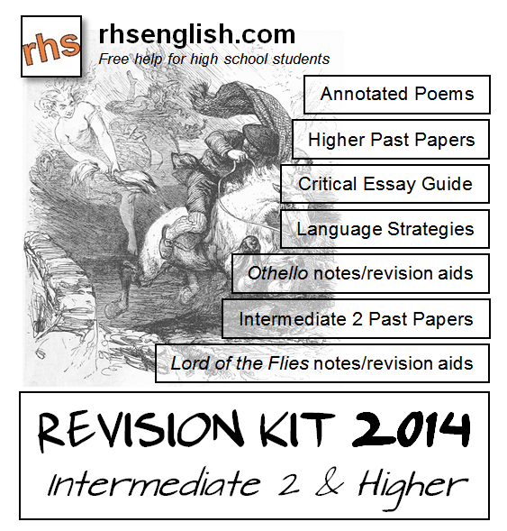higher english critical essay predictions 2013