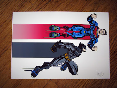 "Batman v Superman ""World's Finest"" DC Comics Print by Tracy Tubera"
