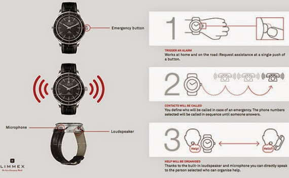 Limmex emergency, το αναλογικό ρολόι που πραγματοποιεί κλήσεις