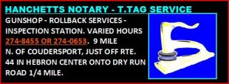 Hanchetts Notary-T-Tag Service