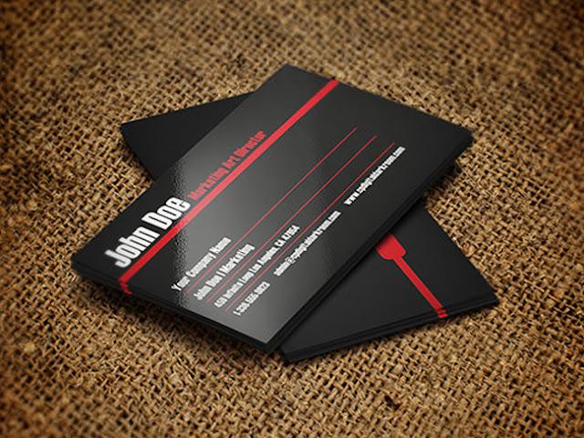 mẫu card visit đơn giản 6