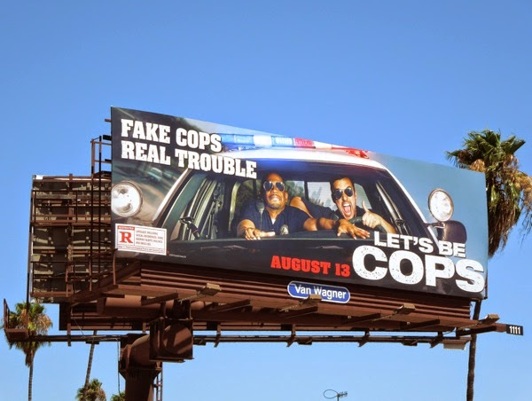 Let's Be Cops movie billboard
