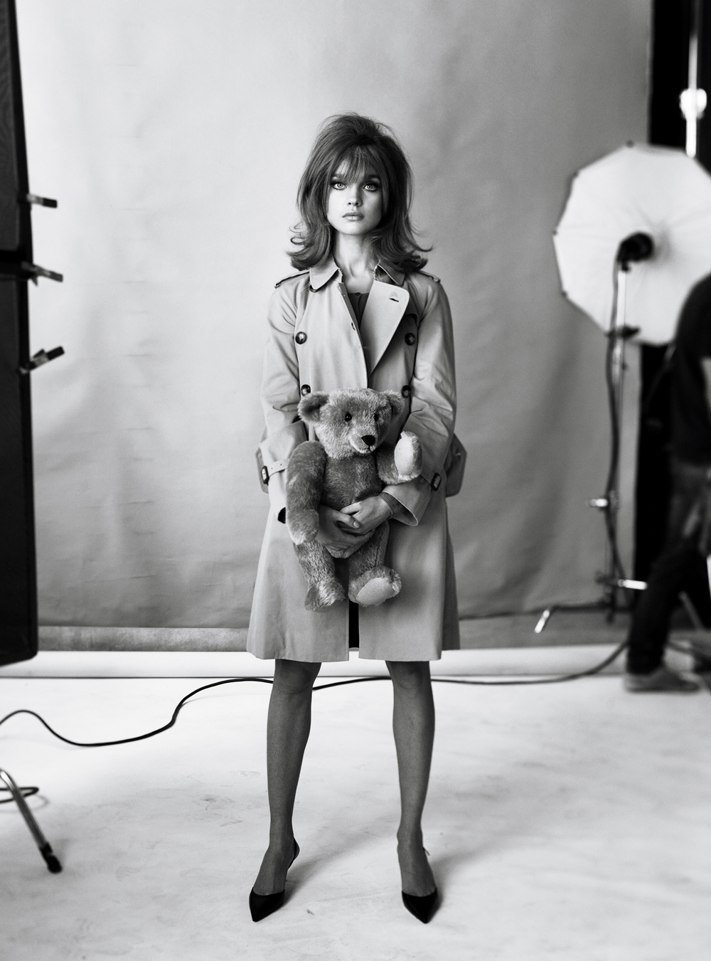 Natalia Vodianova as Jean Shrimpton photographed by Steven Meisel and styled by Grace Coddington for The great pretender / Vogue US May 2009 / via fashioned by love british fashion blog