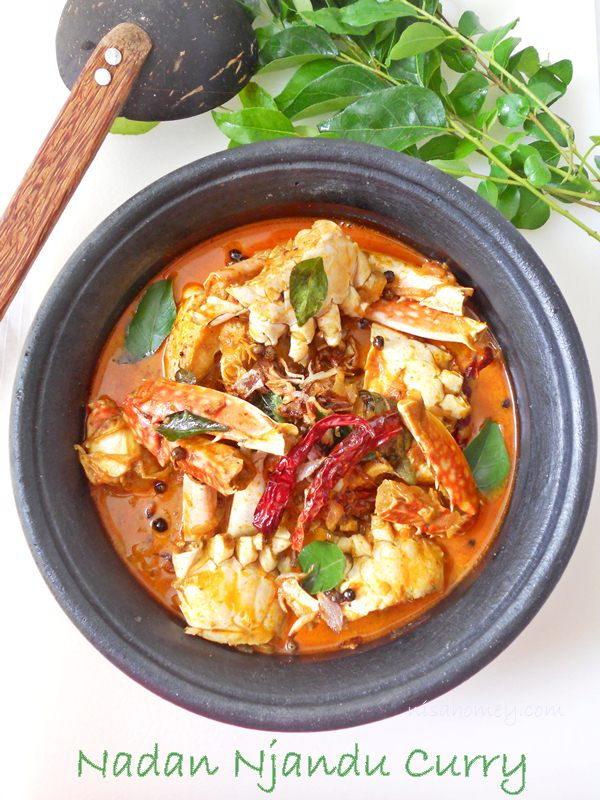 Nadan njandu curry kerala crab curry cooking is easy nadan njandu curry is country style crab curry of kerala crab meat is cooked in coconut milk with a blend of spices and topped off with a tadka in fresh forumfinder Images