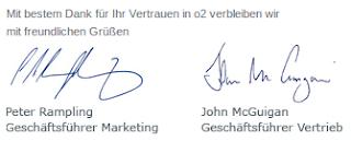 Eingescannte Unterschriften aus O<sub>2</sub>-Mails