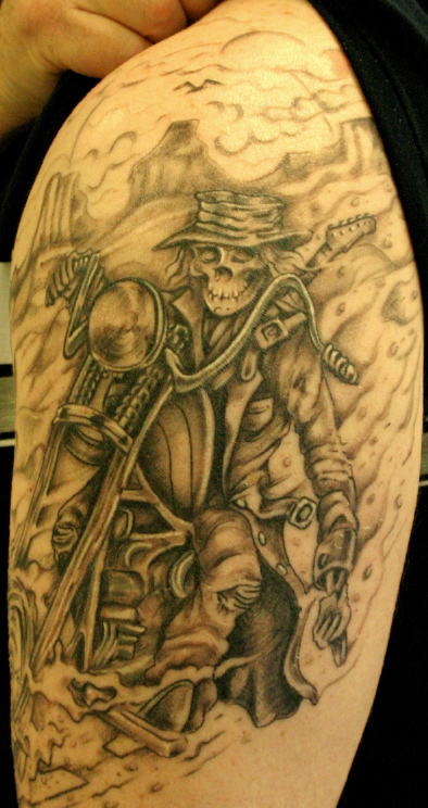 The I Want A Skeleton Riding A Motorcycle Tattoo Gallery 1