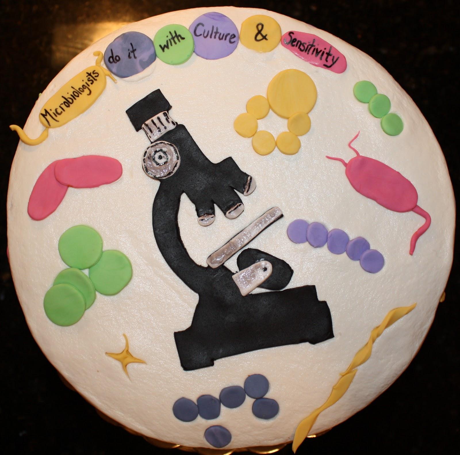Microbiology cake
