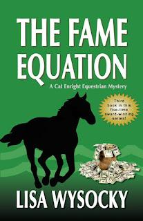 http://www.amazon.com/Fame-Equation-Enright-Equestrian-Mystery/dp/1935270370/ref=sr_1_1?ie=UTF8&qid=1440604876&sr=8-1&keywords=the+fame+equation