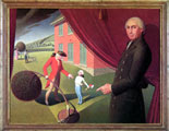 Grant Wood (48) - Parsons Weems' Fable (1939)