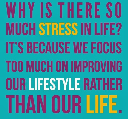 Why Is There So Much Stress In Life ? Itu0027s Because We Focus Too Much On  Improving Our Lifestyle