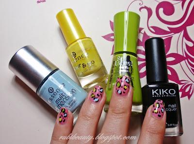 rubibeauty pink leopard nails esmaltes