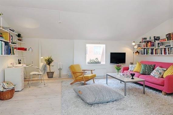 Bricolage e decora o sala de estar ou escrit rio for Sala de estar pequena con escritorio