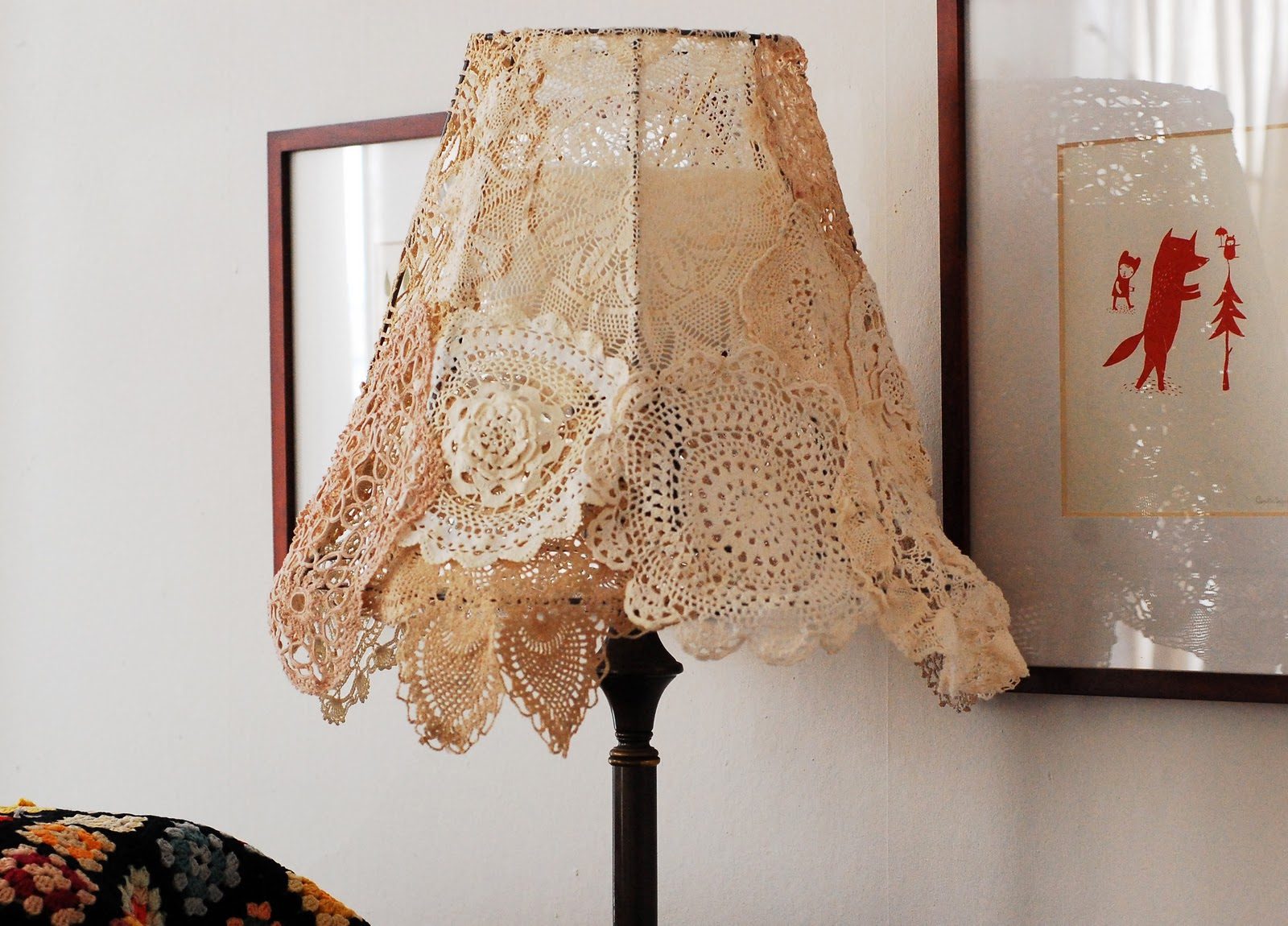 Maize hutton vintage doily lampshade diy vintage doily lampshade diy arubaitofo Image collections