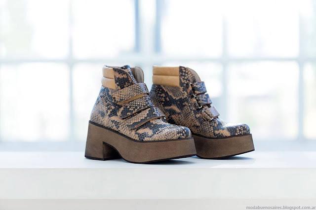 Borcegos otoño invierno 2016 Pamuk. Moda otoño invierno 2016 zapatos.