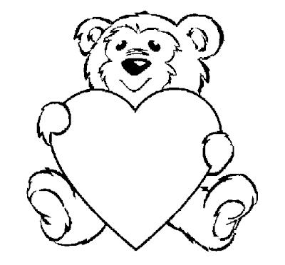 desenhar  urso e colorir