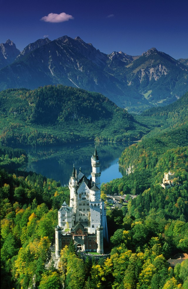 Neuchwanstein Castle , Germany...The Disney Castle is based on this one :)