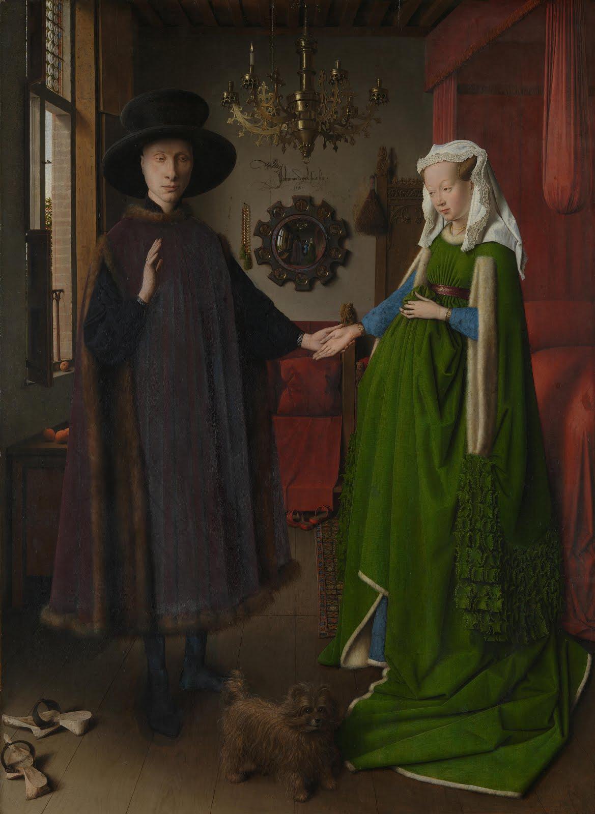 ritratto dei coniugi Arnolfini di Jan Van Eick