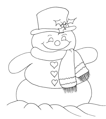 snowmen coloring pages children - photo#14