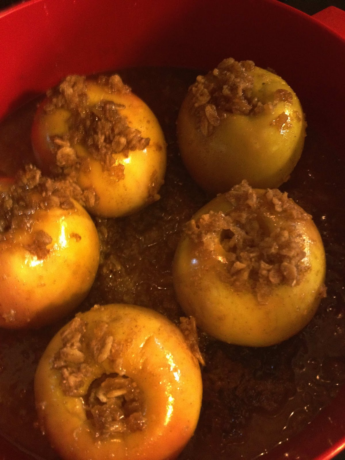 how to make baked apples microwave