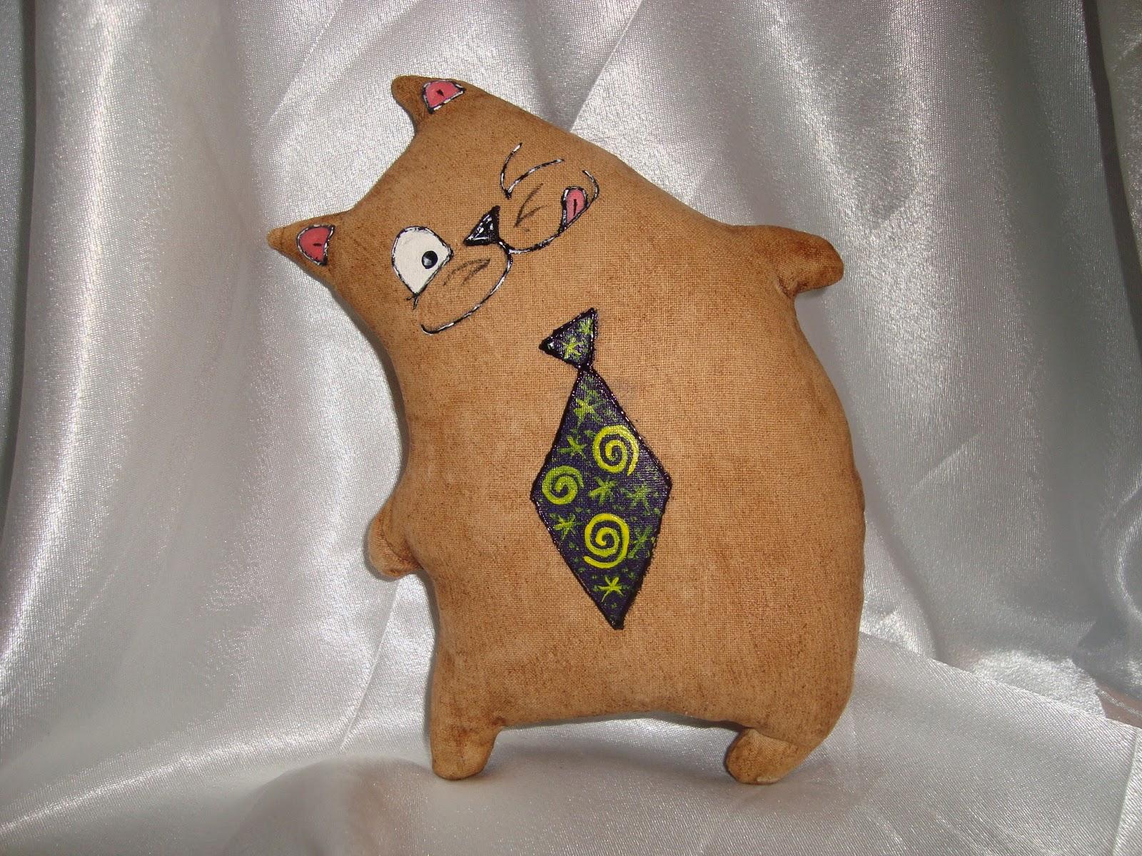 Поделки из ткани с изображением кота