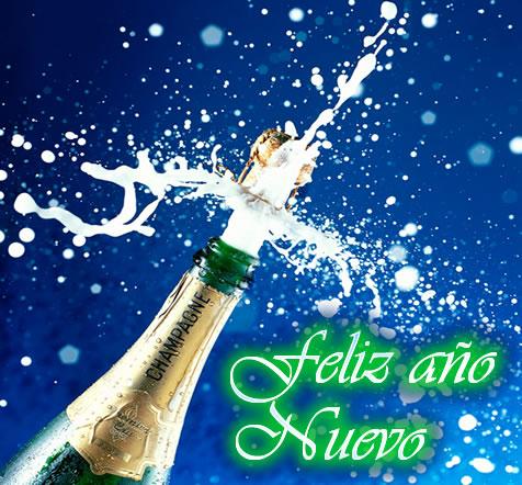 Champagne Feliz Año nuevo