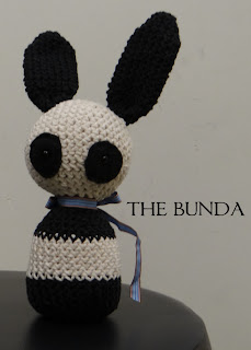 The Bunda, a crocheted bunny panda