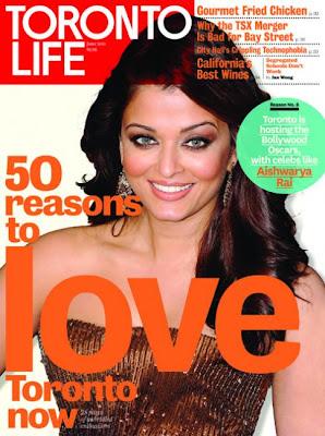 Aishwarya Rai Toronto Life Magazine