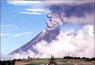 volcán Tungurahua de Ecuador