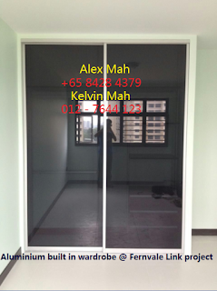 Master Bedroom Aluminium Sliding Door Wardrobe After Complete