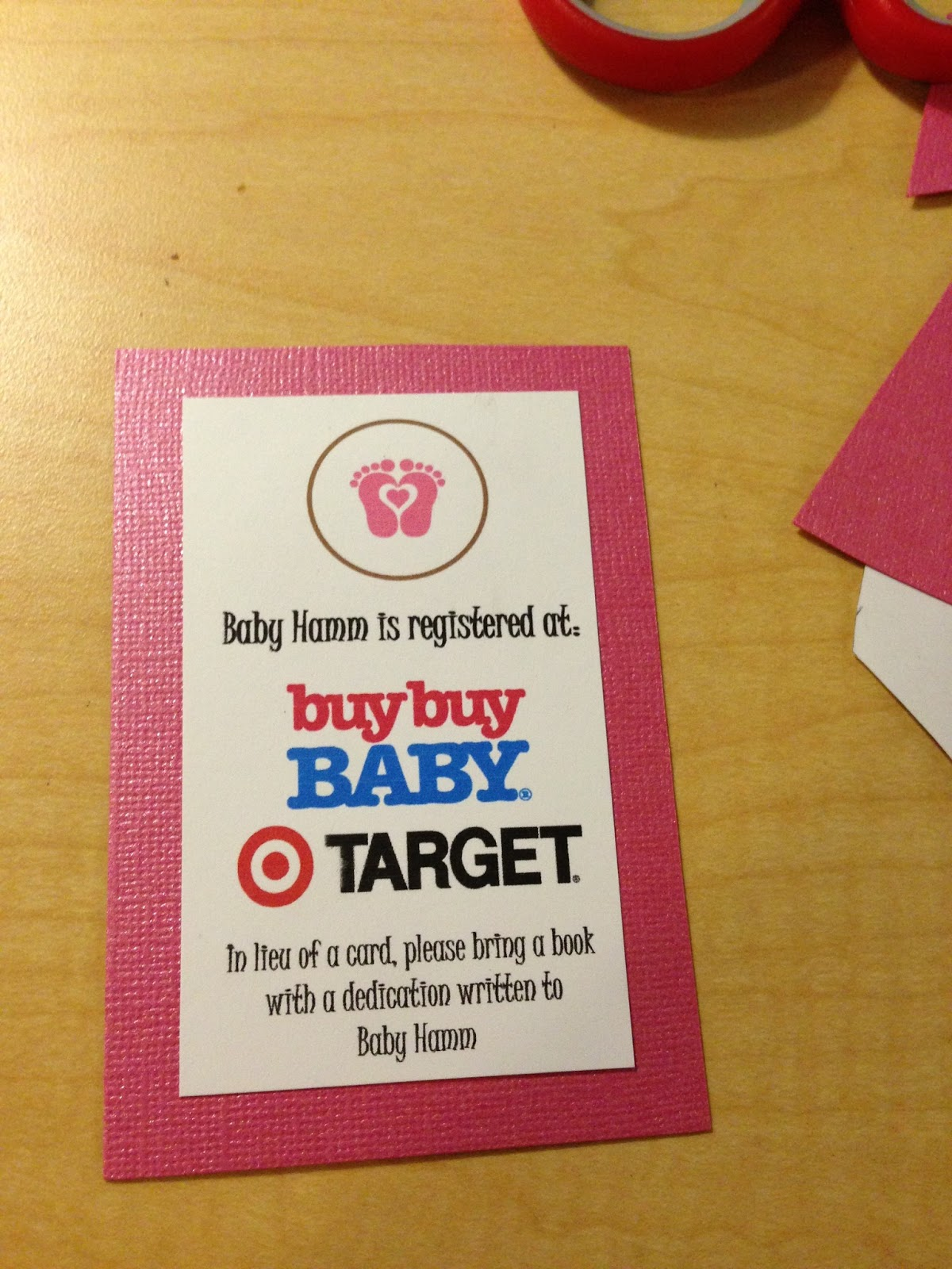 target baby registry cards to print t wall decal. Black Bedroom Furniture Sets. Home Design Ideas