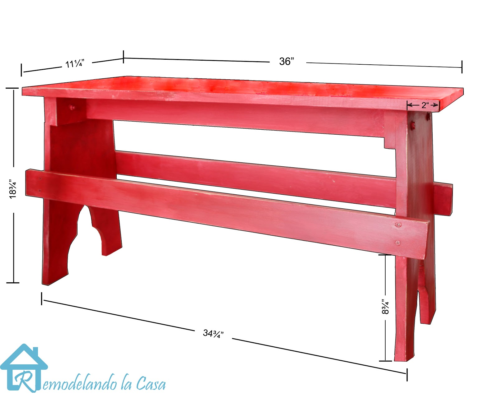 how to build a rustic bench dimension and instructions  included