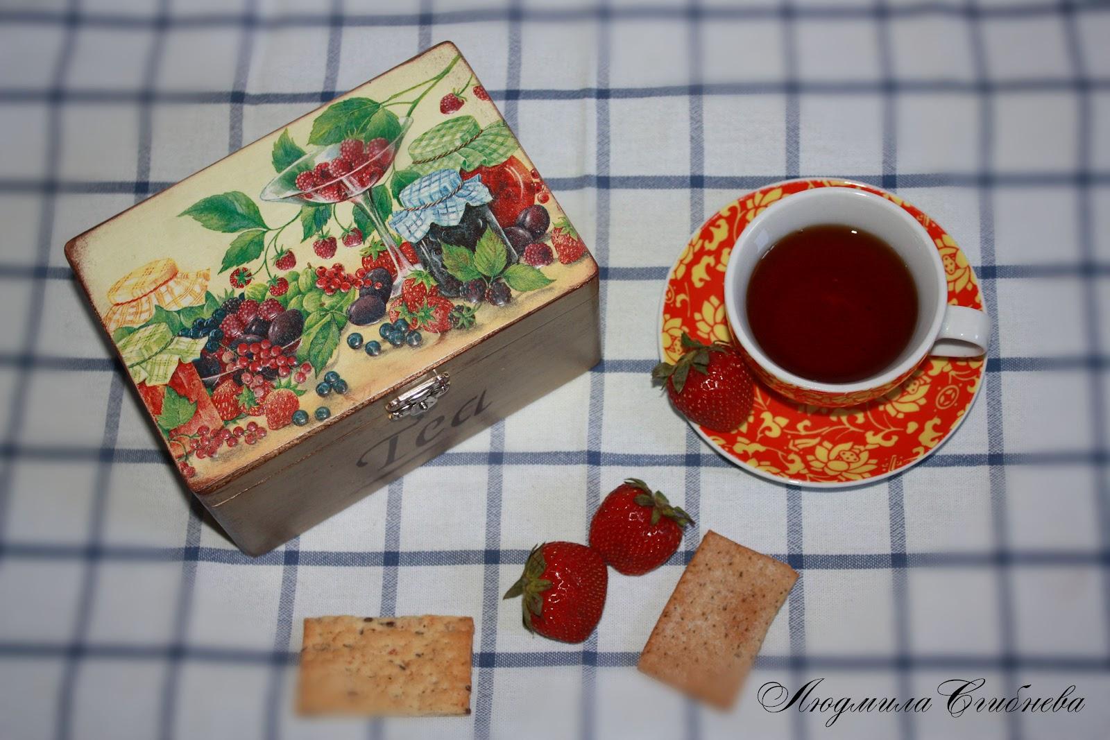 Шкатулка под чай своими руками
