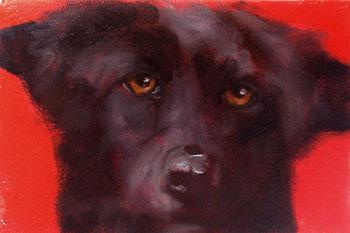 oil portrait dog filarsky