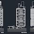 مخطط مشروع وحدات سكنية بمرسيليا اوتوكاد dwg